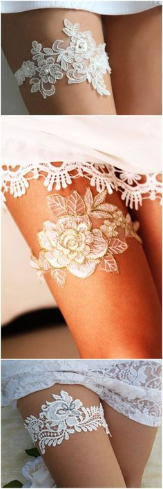 Wedding Ideas » 20 Fabulous Lace Wedding Garter Ideas That You Cannot Say No! » ❤️ More: http://www.weddinginclude.com/2017/07/fabulous-lace-wedding-garter-ideas-that-you-cannot-say-no/ #weddingideas