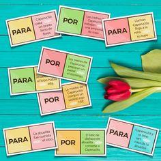 Spanish Games, Spanish 1, Learn Spanish, Elementary Spanish, Spanish Classroom, Spanish Teaching Resources, Teaching Tips, Spanish Grammar, Classroom Displays