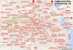 Judgmental map of Houston, TX by jr.ewing.78 jr.ewing.78 Copr. 2014. All Rights Reserved.