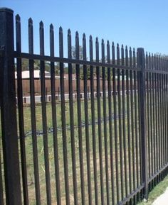 Security fencing is built to keep people both in and out of an area. Security fencing can be built with a number of materials to suit your desired style. Security Fencing, Fence, Outdoor Structures, Steel, Building, Doors, Buildings, Steel Grades, Construction