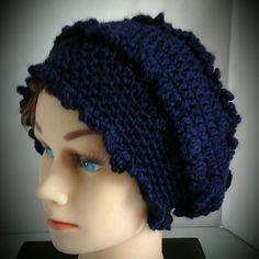 Victorian Navy Blue Crochet Beanie hat, Women Beanie Hat, Head Warmer, Gift for her, Women Accessories, Fall Hat, Spring Hat, Winter Hat, by lanesamarie on Etsy