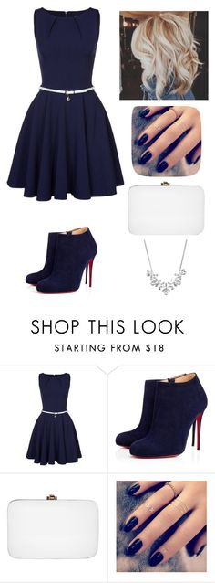 """""""Untitled #194"""" by abbyferb ❤ liked on Polyvore featuring Closet, Christian Louboutin, Rocio, Lottie and Givenchy"""