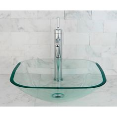 Clear Tempered Glass Vessel Bathroom Sink | Overstock.com Shopping - Great Deals on Bathroom Sinks