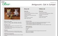 Cat Pattern, Free Pattern, Yellow Cat, Grey Cats, Christmas Knitting, Knitting Patterns Free, Crochet Toys, Baby Gifts, Projects To Try