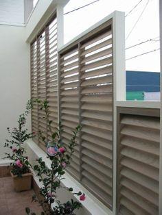 louvered deck railing | FLEXfence | Louver Hardware System For Decks, Fences, Pergolas & More ...