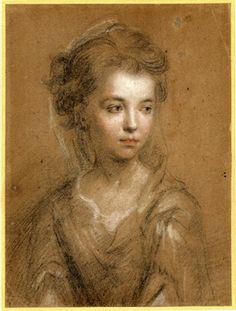 Portrait of an unknown girl; bl, looking down towards the r. Black, red and white chalk, on buff paper. Attributed to: Michael Dahl biography. Formerly attributed to: John Riley biography Unique Drawings, Art Drawings, Charcoal Portraits, American Poets, White Chalk, Dahl, British Museum, Illustration Art, Illustrations