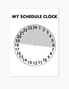 Items similar to Kids Schedule Clock Planner Printable on Etsy Clock Printable, Schedule Printable, Toddler Schedule, Printable Planner, Printables, Projects To Try, Parenting, Handmade Gifts, Etsy