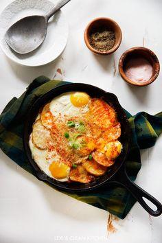 Tomato, Potato, & Leek Gratin with Eggs | Lexi's Clean Kitchen