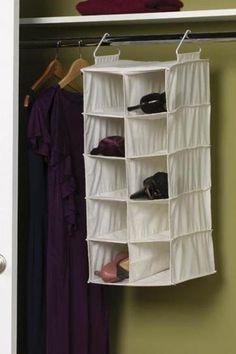10-Pocket Double Shoe Organizer - Closet Organization - Storage And Organization - Storage And Display   HomeDecorators.com