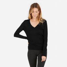 Everlane | The Luxe Wool V-Neck
