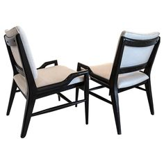 John Keal Sculptural Side Chairs | From a unique collection of antique and modern side chairs at https://www.1stdibs.com/furniture/seating/side-chairs/
