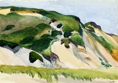 Edward Hopper  Dune at Truro | 1930. Watercolor and pencil on paper. 35,6 x 50,8 cm. Private collection.