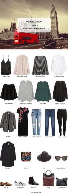 What to pack for London England packing light list #travellight #packinglight #traveltips #travel #capsule #capsulewardrobe