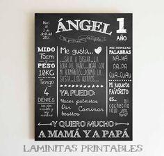 Chalkboard castellano chalkboard español por LaminitasPrintables
