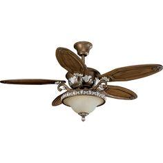 Progress Lighting P2505-55 54-Inch Carmel Ceiling Fan