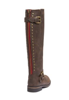Dorsey Boots - I just bought these on JustFab.com Love the red Zipper!!!  Getting Ready for winter.