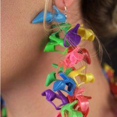 Garden Party Doll Shoe Earrings