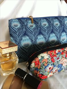 Cosmetics Bag I made with Liberty of London fabric called Caesar!