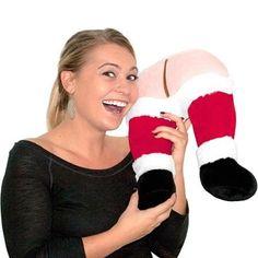 funni stuff, funni christma, gifts, fart butt, santa fart, gift idea, travel pillow, pillows, butt travel
