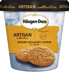 New Artisan Collection Haagen Dazs ice cream: Ginger Molasses Cookie from The Good Batch