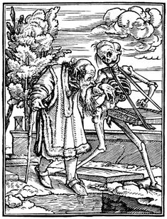 Artist: Holbein The Dance of Death, The Old Man, 1524-26.ALAWADHI