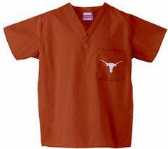 University of Texas Scrub Top in Burnt Orange