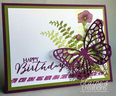 Stampin' Up! Butterfly Basics Birthday Card Elaine's Creations