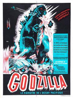 Godzilla King of the Monsters (1956) American re-edit (Ishiro Honda, Terry O. Morse). French Poster.