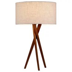 Hey Look What I found at Lighting New York Adesso Brooklyn 30 inch 100 watt Light Walnut Table Lamp Portable Light Walnut Table, Walnut Wood, Walnut Finish, Wood Table, Diy Tisch, Kids Lamps, Tripod Table Lamp, Light Bulb Wattage, Contemporary Table Lamps