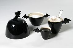 Black winged tea set    we need this in our house