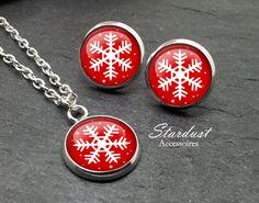 Schmuckset silber ❅ Schneeflocke III ❅ von Stardust Accessoires auf DaWanda.com