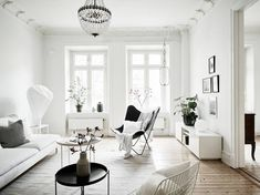 47 Scandinavian Living Room Designs With a Mesmerizing Effect - Di Home Design Interior Design Living Room, Living Room Designs, Living Room Decor, Swedish Interior Design, Room Interior, Living Room Inspiration, Interior Inspiration, Design Inspiration, Style Deco