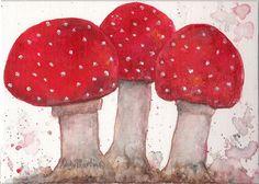 Macigal Mushrooms by Lesley Gale on Etsy