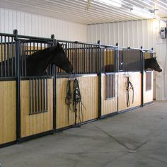 Hi-Hog's box stalls provide outstanding quality in a cost effective solution. The modular design makes it easy to design and install solutions that meet your needs and budget. Fronts and Partitions come in 10′ and 12′ lengths. Custom lengths are available. Some suppliers ship their stalls in a box. These stalls often require significant assembly. Hi-Hog's welded box stall frames arrive ready to install. Pin the fronts to the partitions and slide the wood into the channel http://www.hi-hog/equine