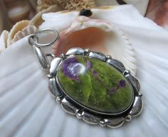 Sterling Silver Green and Purple Atlantisite by EverythingIOwn, $30.00