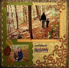 Scrapbooking Layout: Celebrate Autumn #scrapbooking #autumn