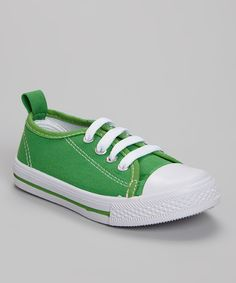 Look what I found on #zulily! Shoe Shox Green Sneaker by Shoe Shox #zulilyfinds