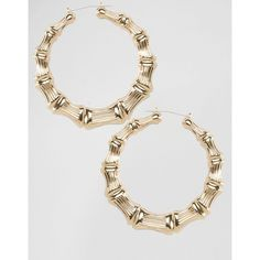 Nylon Chunky Hoop Earrings 21 Brl Liked On Polyvore Featuring Jewelry