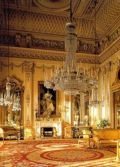 The White Drawing Room At Buckingham Palace ~ London, England