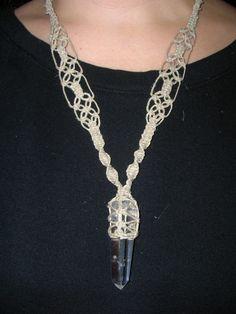 Double Terminated Quartz Crystal Hemp Necklace by PeaceLoveRocks
