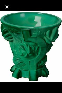 Bohemian malachite glass vase with stylized roses price 1600$
