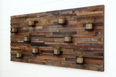 Wood wall art with floating wood shelves 84x40x5 by CarpenterCraig