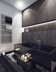 A Bachelor apartment sink Brown bathroom