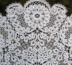 Advanced Embroidery Designs - FSL Battenberg Wreath of Camellias Lace Doily
