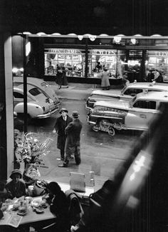 East 59th Street from Automat Cafeteria, New York, 1950, photo by David Vestal