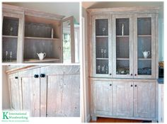 Rustic Cape Cod Kitchen. Cabinet with Chicken Wire! Great idea and just stunning
