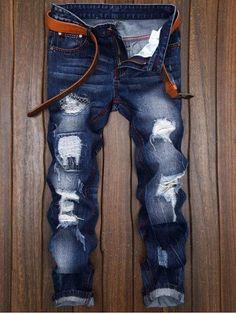GET $50 NOW | Join RoseGal: Get YOUR $50 NOW!http://m.rosegal.com/mens-pants/straight-leg-stitching-ripped-jeans-1056169.html?seid=vv6pgma63ib98krfrlrntffse3rg1056169