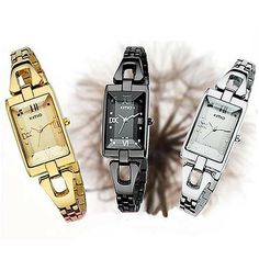 Fashion Women Rectangular Dial Quartz Watch Brand Eyki Kimio The Hours K468L Top Quality US $10.88