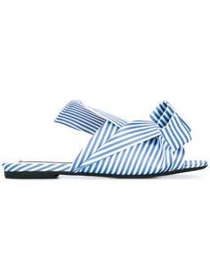 Shop Nº21 striped bow sandals .