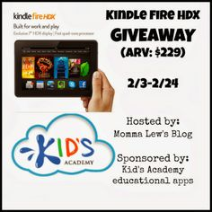 Kindle Fire HDX Giveaway! | Fun With Four - ENDS 2/24
